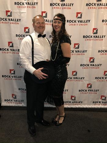 Rhonda & Her Husband Hit the 20's Theme Out-Of-The-Park!